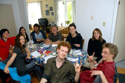 la gang des chemins d'écriture 2006 au travail.