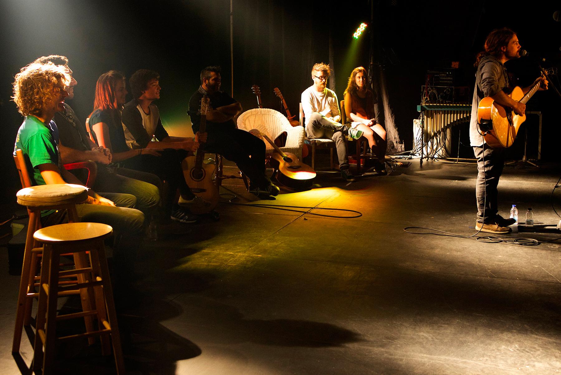 Les chemins d'écriture 2014 en spectacle dans l'église.
